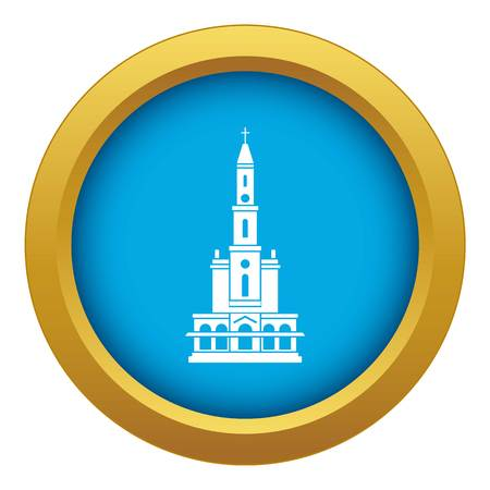 Big castle icon blue vector isolated