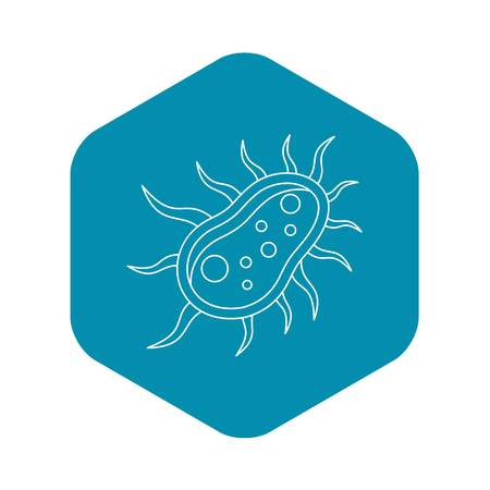 Bacteria centipede icon. Outline illustration of bacteria centipede vector icon for web Иллюстрация