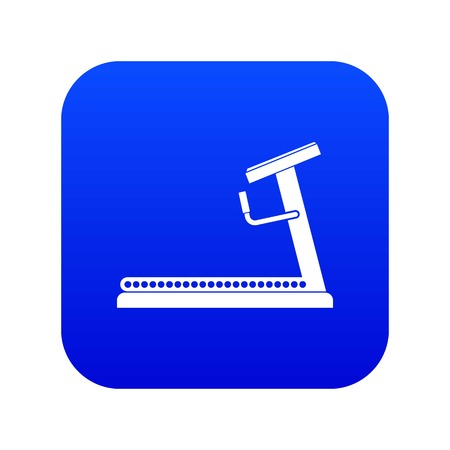Treadmill icon digital blue for any design isolated on white vector illustration
