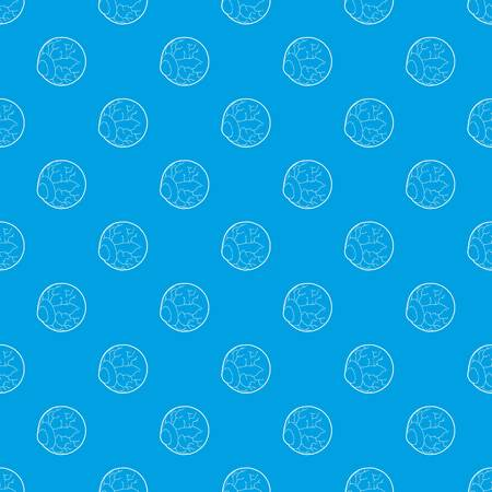 Eye pattern vector seamless blue repeat for any use Illustration