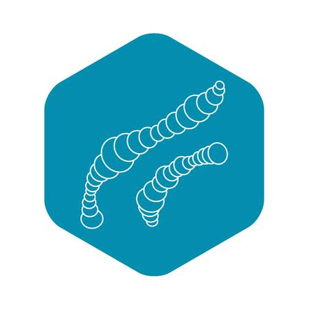 Spiral bacteria icon. Outline illustration of spiral bacteria vector icon for web