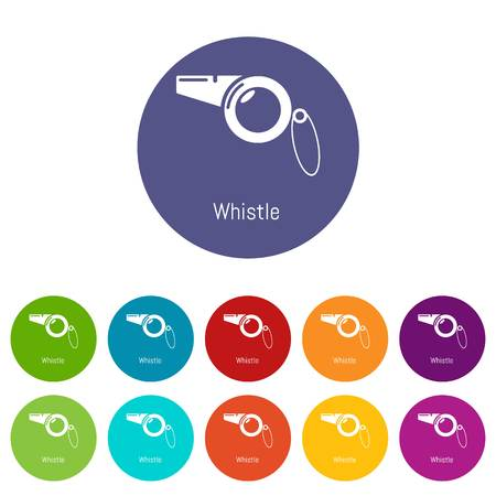 Whistle icons color set vector for any web design on white background Illustration