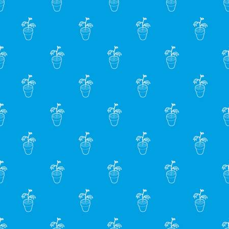 Cannabis plant pattern vector seamless blue repeat for any use