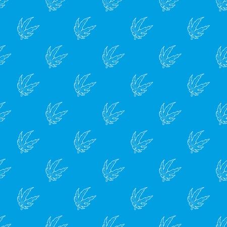 Marijuana leaf pattern vector seamless blue repeat for any use