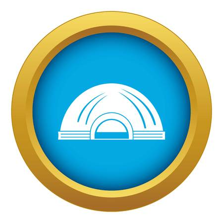 Aboriginal dwelling icon blue vector isolated