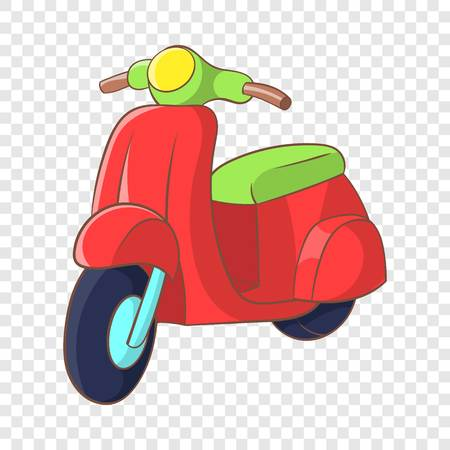 Red scooter icon, cartoon style Ilustrace