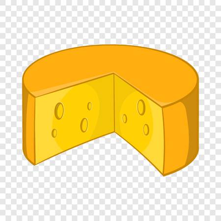 French cheese icon in cartoon style  イラスト・ベクター素材