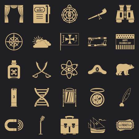 Pirates icons set. Simple set of 25 pirates vector icons for web for any design