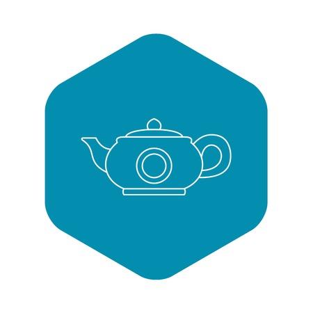 Teapot icon. Outline illustration of teapot vector icon for web design