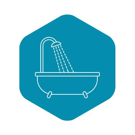 Shower icon. Outline illustration of shower vector icon for web design Çizim