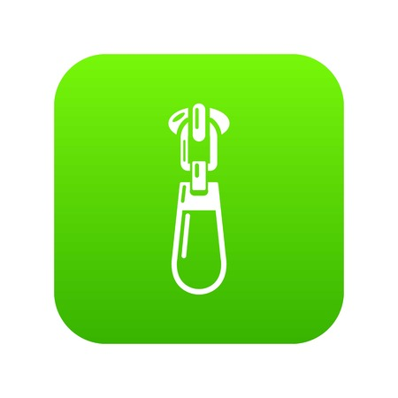 Fastening zip icon, simple style Ilustrace