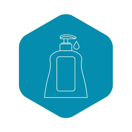 Body care lotion icon. Outline illustration of body care lotion vector icon for web design Stok Fotoğraf - 124640448