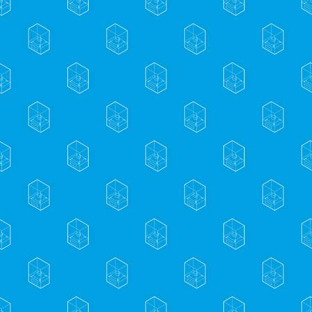 Diamond on a pedestal pattern vector seamless blue
