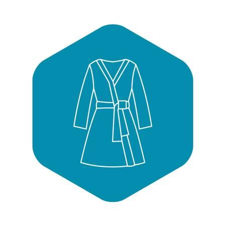 Bathrobe icon. Outline illustration of bathrobe vector icon for web design