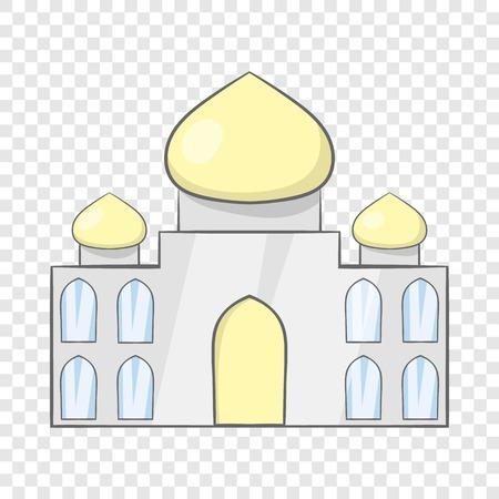 Taj Mahal, India icon, cartoon style