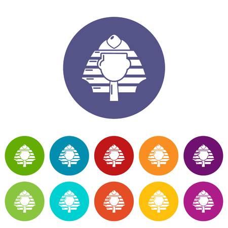 Pharaoh icons color set vector for any web design on white background Illustration