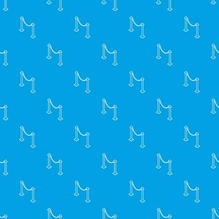 Barrier rope pattern vector seamless blue repeat for any use