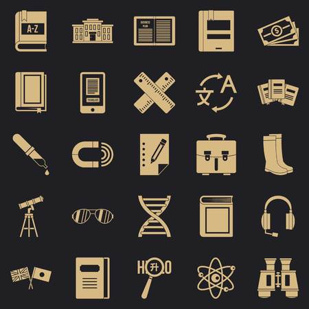 Ability icons set. Simple set of 25 ability vector icons for web for any design Иллюстрация