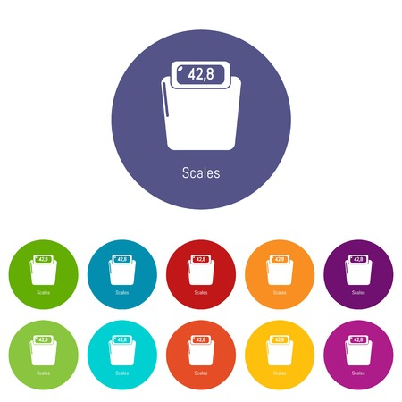 Scales icons color set vector for any web design on white background Stock Vector - 124618374