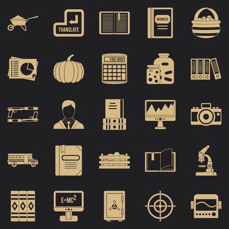 Skills icons set. Simple set of 25 skills vector icons for web for any design Иллюстрация