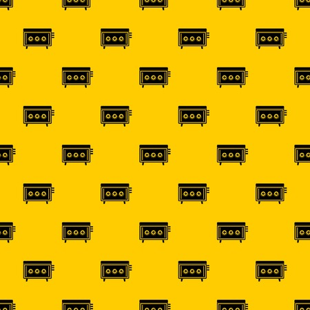 CD changer pattern seamless vector repeat geometric yellow for any design Illustration