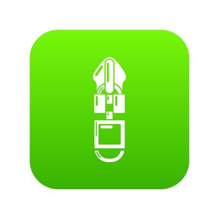 Metal zip icon, simple style Ilustrace