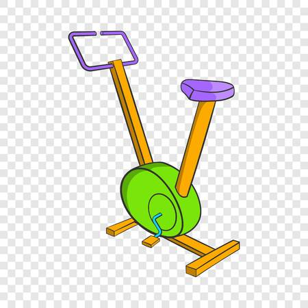 Fitness bike icon, cartoon style