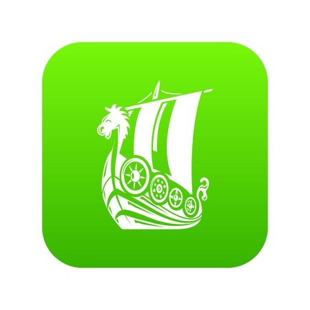 Ancient ship icon, simple style Stock Vector - 124575969