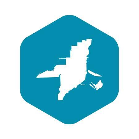 Florida map icon, simple style Illustration