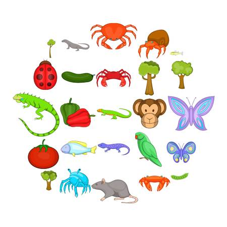 Crustaceans icons set. Cartoon set of 25 crustaceans vector icons for web isolated on white background