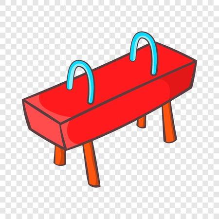 Pommel horse icon, cartoon style Foto de archivo - 118662253