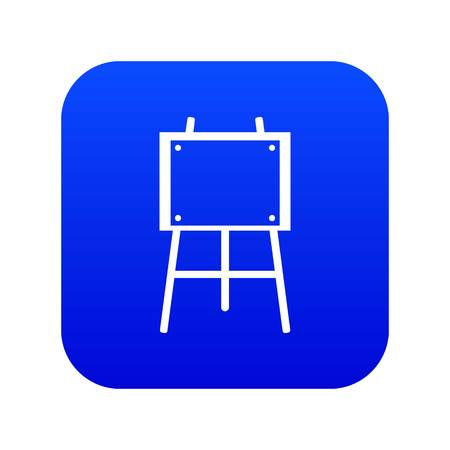 Wooden easel icon digital blue for any design isolated on white vector illustration