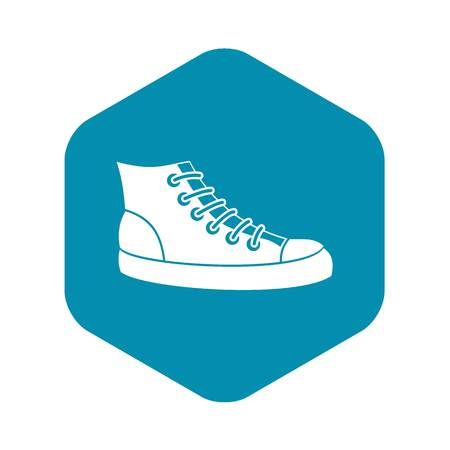 Sneakers icon in simple style isolated on white background