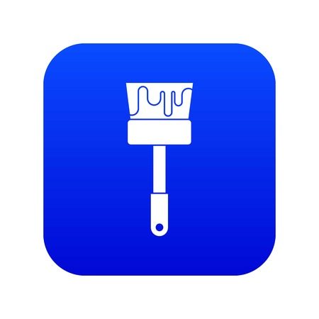 Paint brush icon digital blue for any design isolated on white vector illustration Çizim