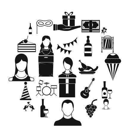 Rest in the mall icons set. Simple set of 25 rest in the mall vector icons for web isolated on white background