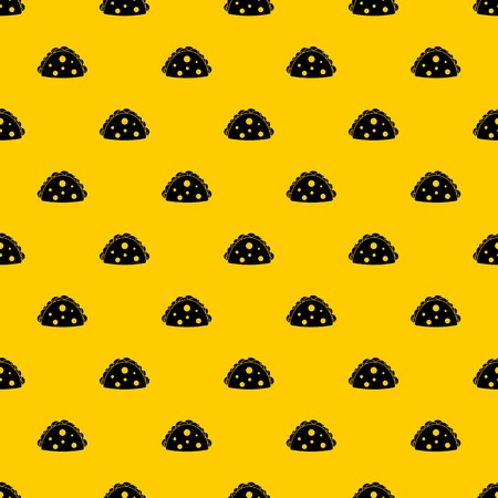 Empanada, cheburek or calzone pattern seamless vector repeat geometric yellow for any design
