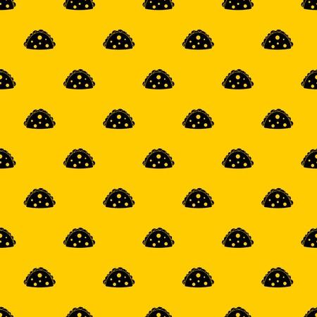 Empanada, cheburek or calzone pattern seamless vector repeat geometric yellow for any design