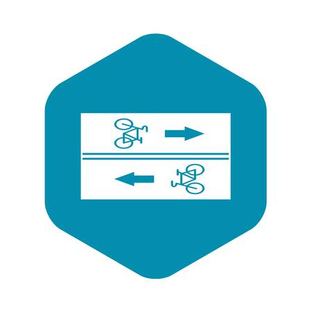 Road for cyclists icon, simple style