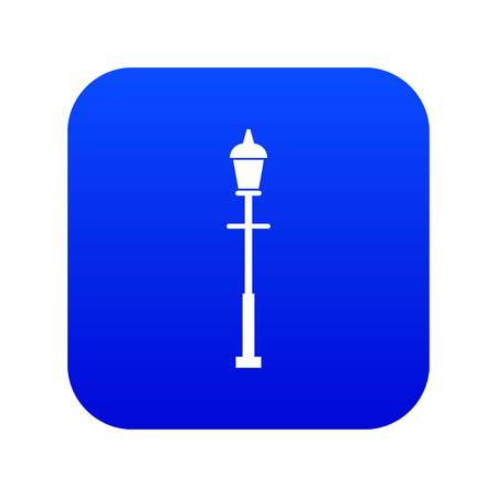 Lantern icon digital blue for any design isolated on white vector illustration