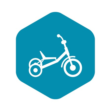 Tricycle icon in simple style isolated on white background