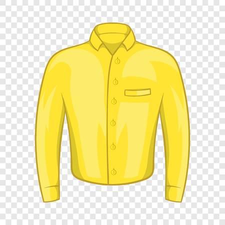 Yellow man shirt icon, cartoon style