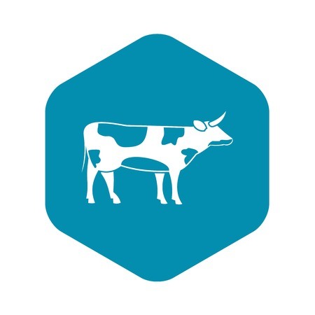 Switzerland cow icon in simple style isolated on white background