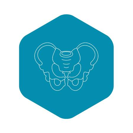 Pelvis icon, outline style