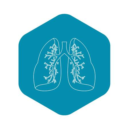Lungs icon, outline style