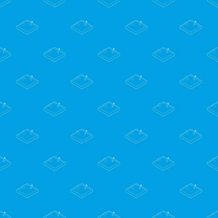 Sandbox pattern vector seamless blue repeat for any use
