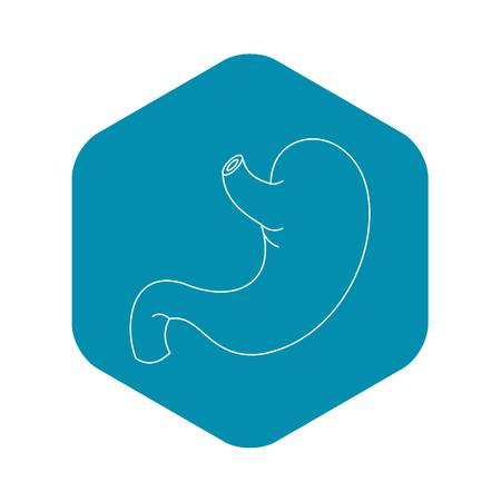 Stomach icon, outline style