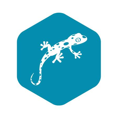 Chameleon icon in simple style isolated vector illustration. Reptiles symbol