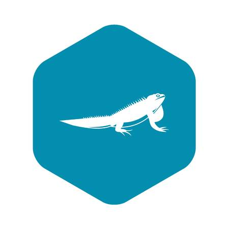 Iguana icon in simple style isolated vector illustration. Reptiles symbol Illustration