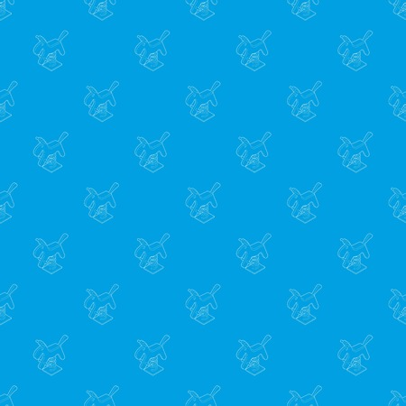 Horse spring see saw pattern vector seamless blue repeat for any use Illustration
