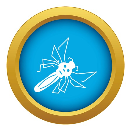 Mosquito icon blue vector isolated on white background for any design
